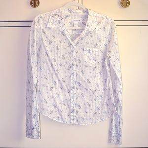 Abercrombie & Fitch Cotton Floral Buttondown Large